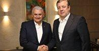 Премьер Грузии и Турции Георгий Квирикашвили и Бинали Йылдырым
