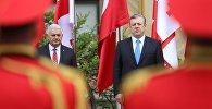 Премьеры Турции и Грузии Бинали Йылдырым и Георгий Квирикашвили