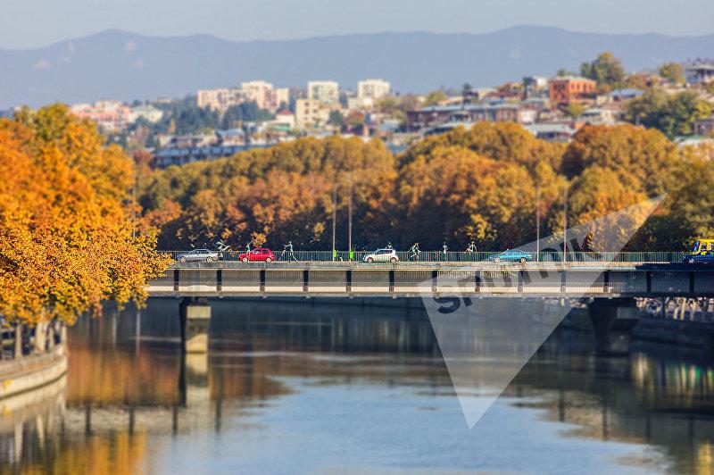 Мост Бараташвили в Тбилиси