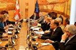 Встреча депутатов Европарламента в парламенте Грузии