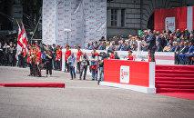 Премьер Грузии Георгий Квирикашвили на площади Свободы, где отмечают День независимости страны