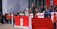Министр обороны Леван Изория выступает на праздновании Дня Независимости Грузии