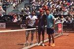 Теннис. Николоз Басилашвили и Жо-Вильфред Тсонга перед матчем в Лионе