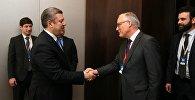 Премьер министр Грузии Георгий Квирикашвили и его словацкий коллега Роберт Фицо