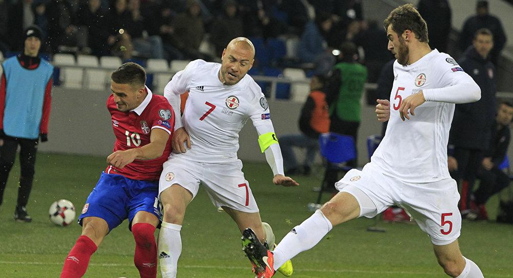 Сербия одолела Грузию иквалифицировалась наЧМ-2018 пофутболу