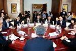 Встреча глав парламентов Грузии и Украины, а также президента ПА НАТО Паоло Алли