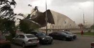 Ураган в Москве валил деревья и срывал крыши: кадры стихийного бедствия