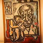 Картина Посвящение Пикассо, холст, масло, 1979 год