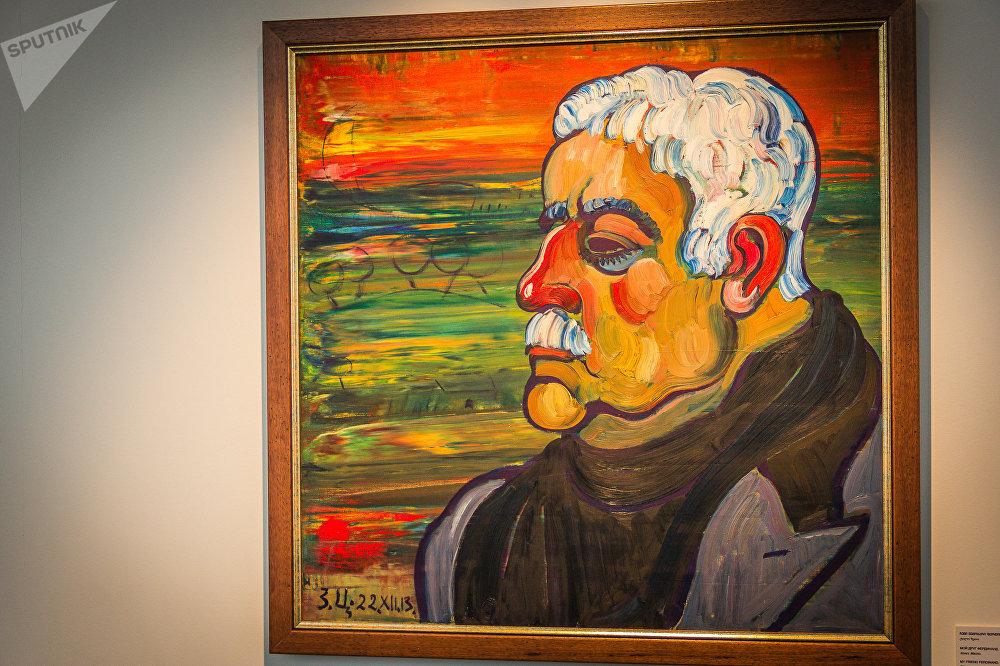Картина Зураба Церетели Мой друг Фердинанд, холст, масло
