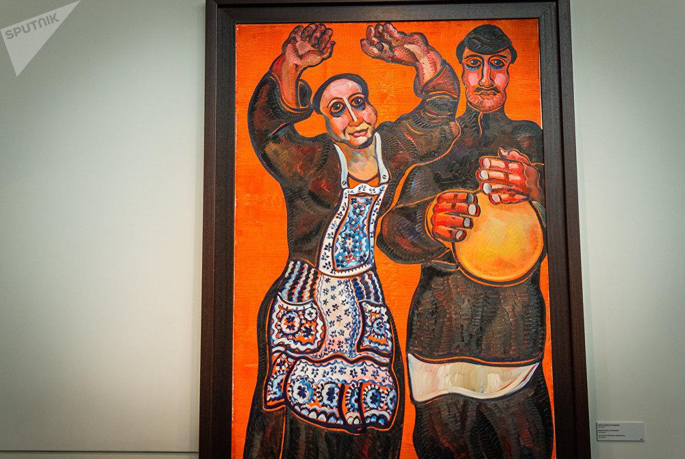 Картина Медоле Мехаэли с Мирандолой, холст, масло, 2012 год