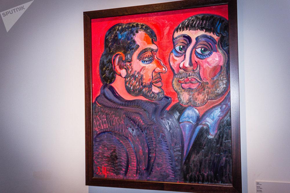 Картина Братья, холст, масло, 2015 год