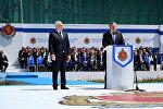 Глава МВД Грузии Георгий Мгебришвили и премьер Грузии Георгий Квирикашвили на праздновании Дня полиции