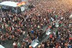 Эвакуация посетителей рок-фестиваля Rock am Ring в Германии