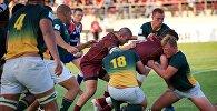 Матч между молодежными сборными Грузии и ЮАР по регби