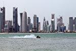 Вид на столицу Катара - город Доха