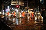 Ликвидация последствий ливня в Тбилиси