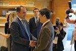 Глава Минфина Грузии Дмитрий Кумсишвили и президент JICA Шиничи Китаока