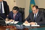 Подписание договора о реструктуризации долга Грузии Казахстану