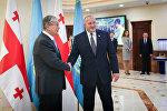 Президент Грузии Георгий Маргвелашвили во время визита в Астану
