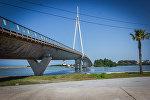 Деревянный 540-метровый пешеходный мост, соединяет курортный город Анаклиа с селом Ганмухури, это самый длинный пешеходный мост в Европе