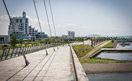 Пешеходный мост в Анаклии