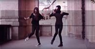 Танец Shuffle в исполнении девочек из Чиатуры