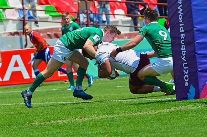 Матч между сборными Грузии и Ирландии по регби в рамках чемпионата мира U-20