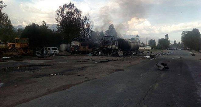 Взрыв на АЗС в Кыргызстане