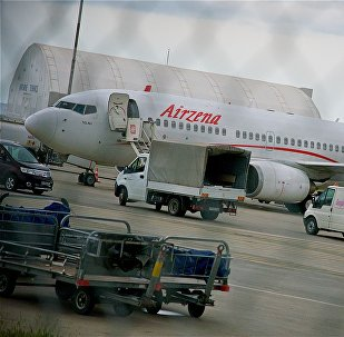 Самолет грузинской авиакомпании Airzena в Тбилисском аэропорту