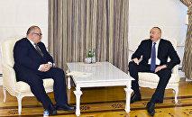 Александр Джеджелва и Ильхам Алиев