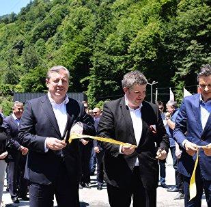 Георгий Квирикашвили на открытии завода в Гурии