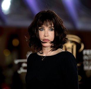 Французская актриса Изабель Аджани пво время Международного кинофестиваля в Марракеше