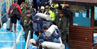 Поиск людей, пропавших без вести, после крушения туристического судна в Колумбии