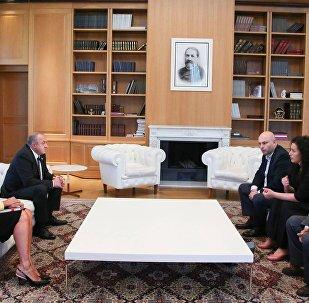 Встреча Георгия Маргвелашвили с Лейлой Мухтарлы
