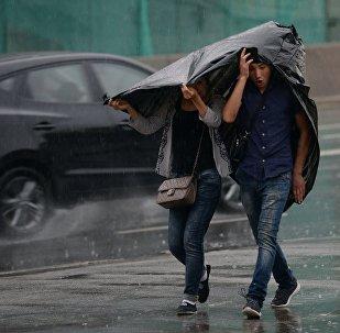 წვიმა მოსკოვში