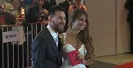 Лионель Месси с невестой Антонеллой Рокуццо в день свадьбы
