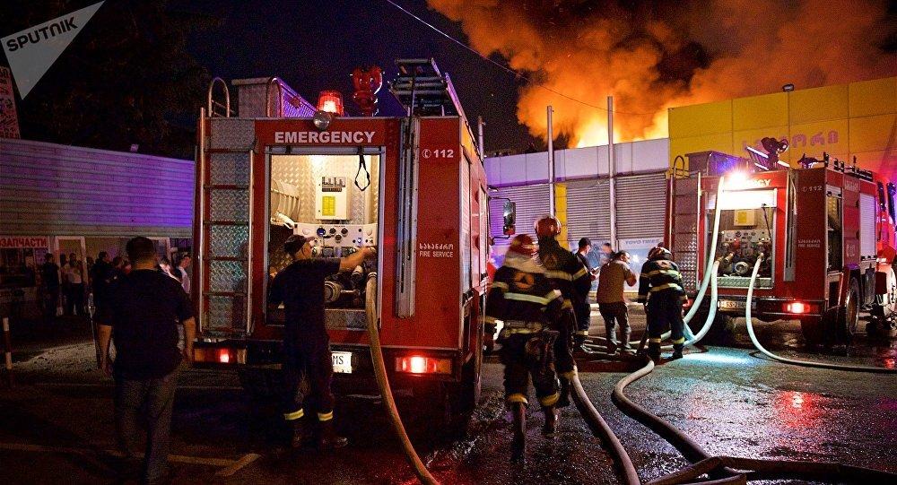 ВТбилиси сгорел один изкрупнейших местных рынков