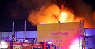Пожар в торговом центре автомобильных масел, запчастей и аксессуаров на рынке Элиава