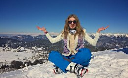 Анна Галай в горах Грузии
