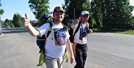 Участники марша За мир и против фашизма в Борисоглебске
