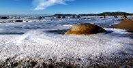 Валуны Моераки (Драконьи яйца), пляж Коекохе, Новая Зеландия