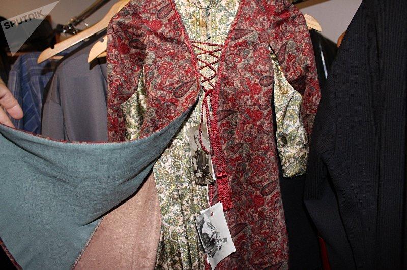 Грузинский женский национальный костюм, созданный Самосели пирвели