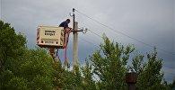 Ремонт линии электропередач в селе