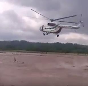 Спасательная операция на реке реки Хобисцкали в Грузии