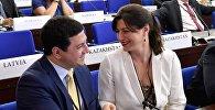 Депутаты парламента Грузии Арчил Талаквадзе и Софо Кацарава