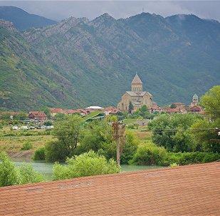Регион Мцхета Мтианети и вид на Светицховели