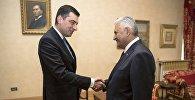 Встреча главы минэкономики Грузии Георгия Гахария с турецким премьером Бинали Йылдырымом