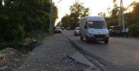 Участок дороги в Абхазии, где было совершено нападение на туристов