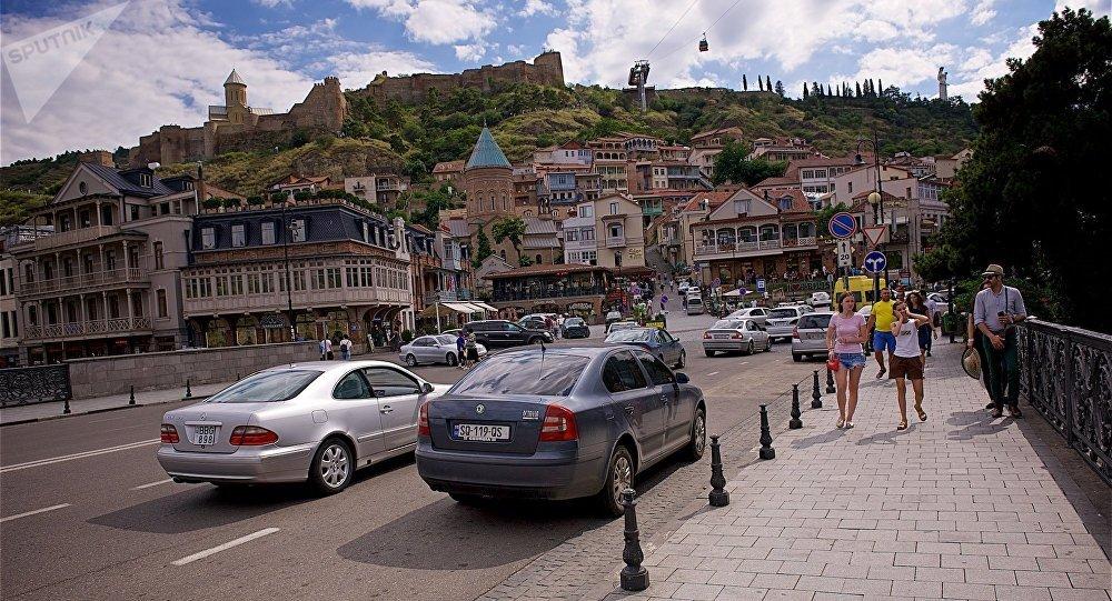 Метехский мост, Мейдан и вид на Нарикала - центр Тбилиси