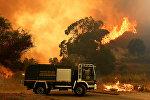 Пожарная спасательная машина в районе Аннунциата Мессины